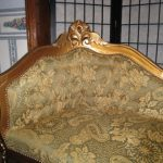 Antique Side Couch-Bench with table