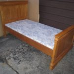High Solid Wood Single Bed