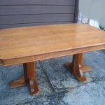 Large Oak Wood Dining Table