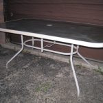 Rectangular Patio Glass top Table
