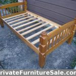 2 Identical Heavy duty Solid Wood Single Beds with free slats