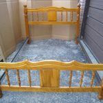 Double Solid Wood Bed