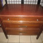 Vintage Wood 3-drawer Chest