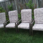 6 Zinc coated Patio Chairs