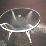 Glass Top Round Patio Table