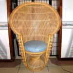 Large Vintage Rattan Chair